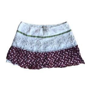 Vintage Free People mini skirt size Large